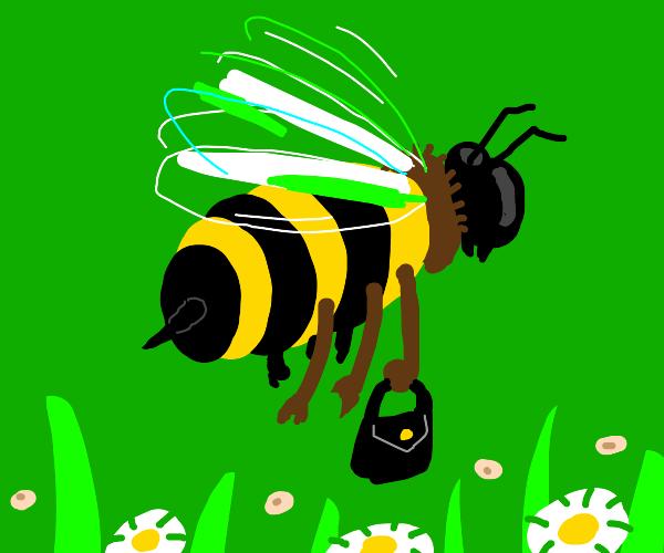 bee with handbag