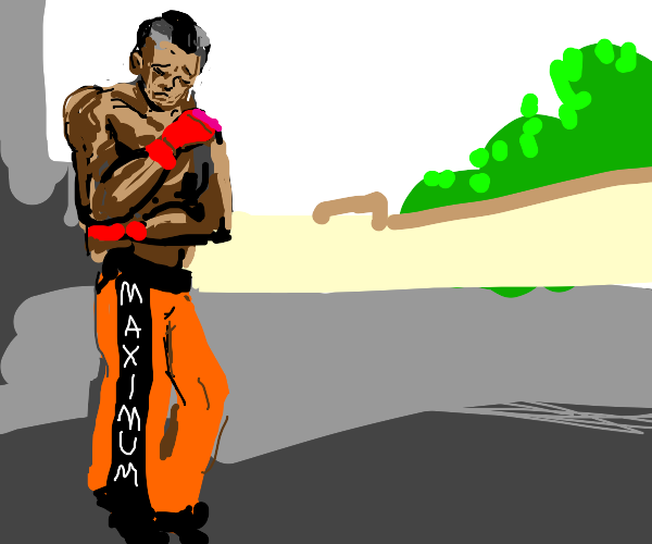 Sad Street Fighter Character