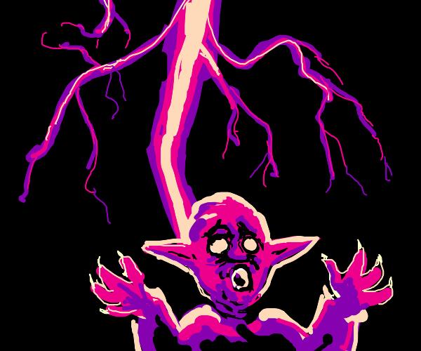 yoda zapped by lightning