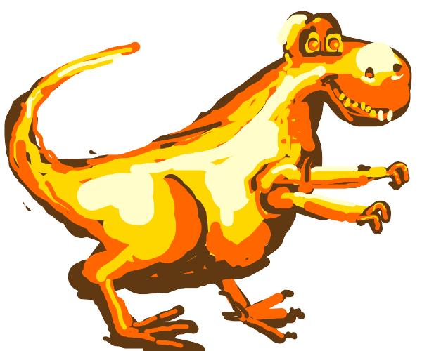 wow a golden dinosaur