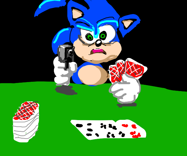 sonic knows the rules and will shoot u