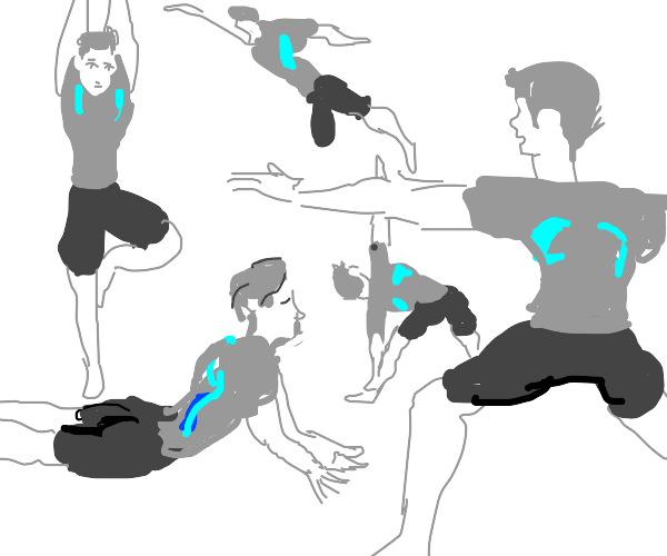 Wii Fit Trainer doing yoga