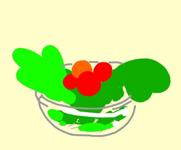 A juicy bowl of salad
