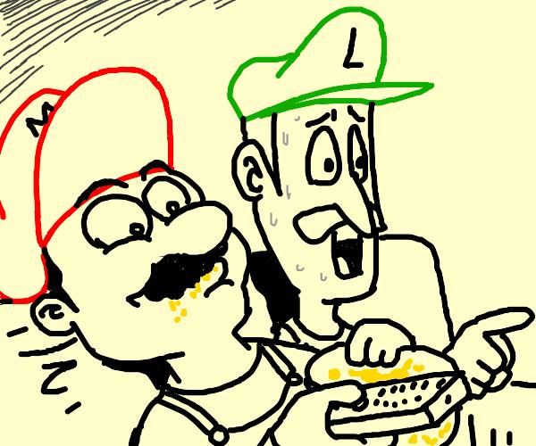 Chill Mario Bros watching something