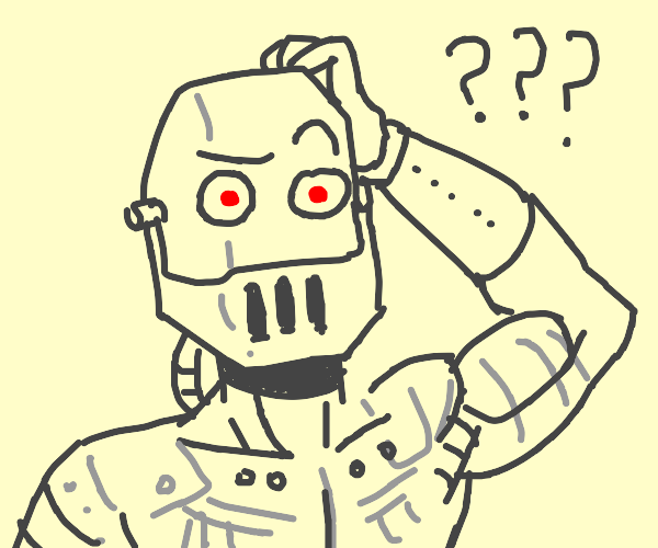 Android robot is confused