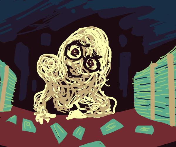 spaghetti man offers loads of cash