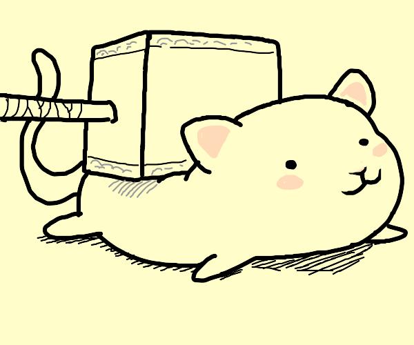 Mjolnir squashed a cat