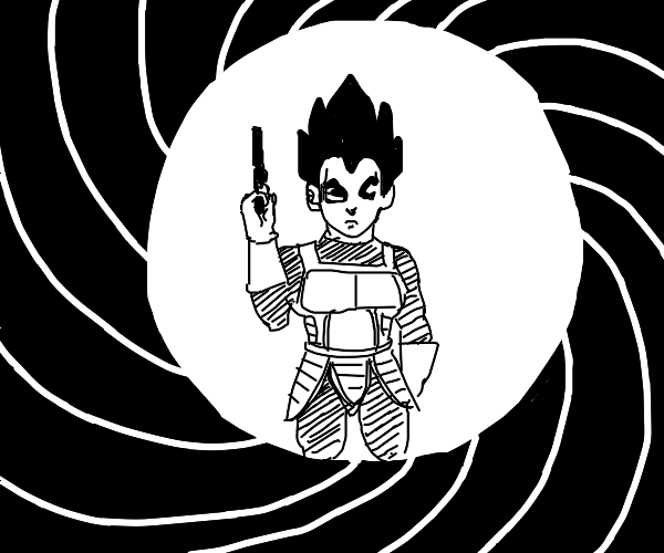 Vegeta but as James Bond