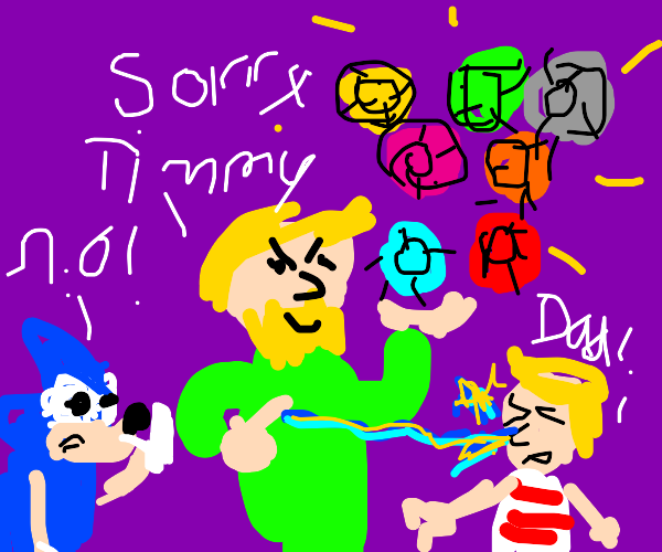 timmy 's dad has all the chaos emeralds