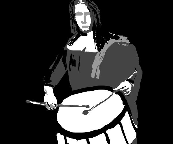 Drumming Mona Lisa