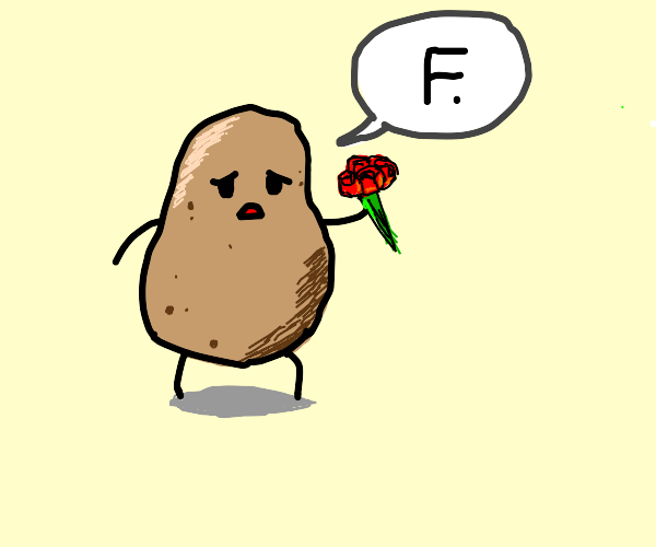 Potato pays repects to a death