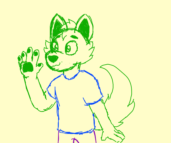 Green fox fursona