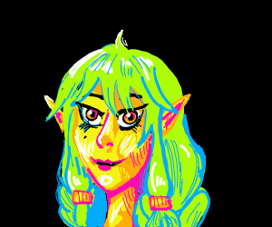 Happy green elf