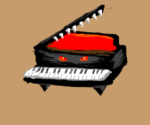 The piano from Super Mario 64 but evil.