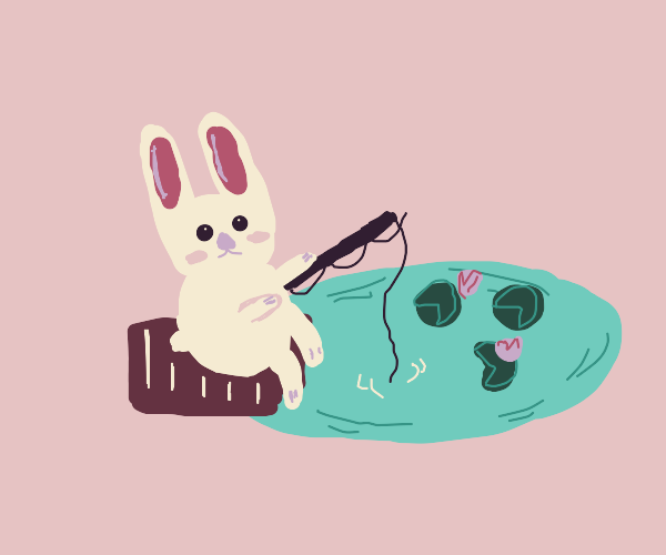 Bunny goes fishing