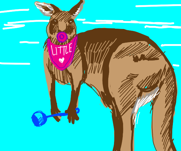 a kangaroo thinks shes little
