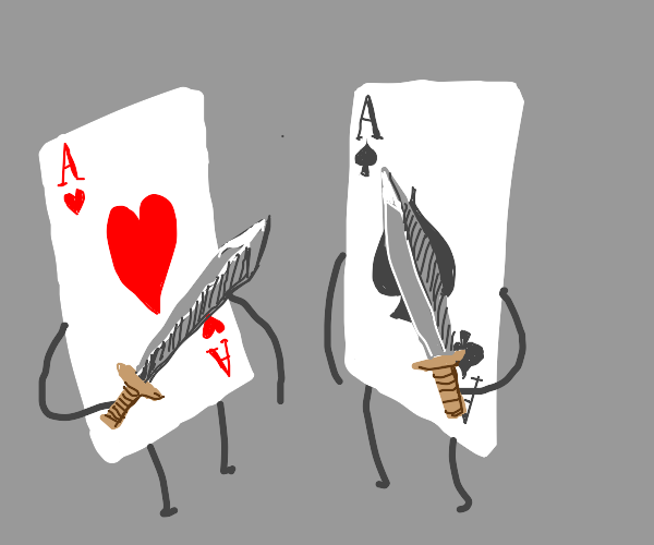 Ace of hearts vs. Ace of spades