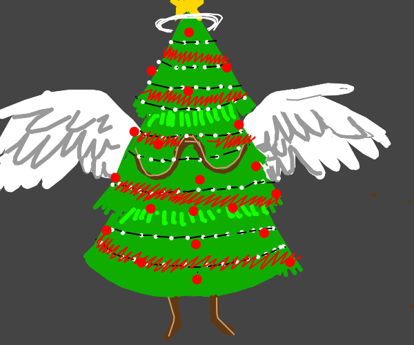 christmas tree assends to heaven.