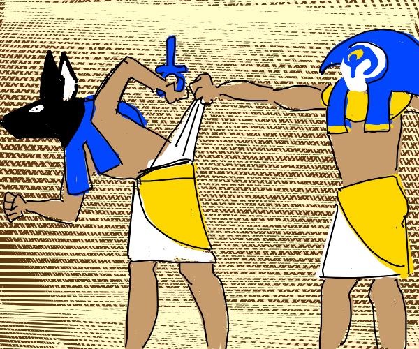 Anubis gets a wedgie