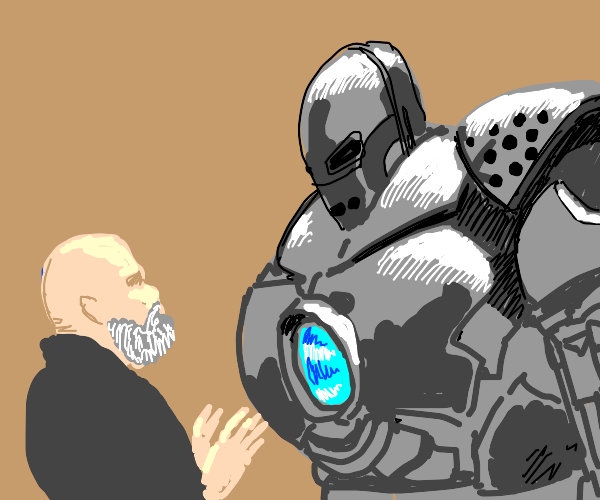 the bad iron man guy under construction