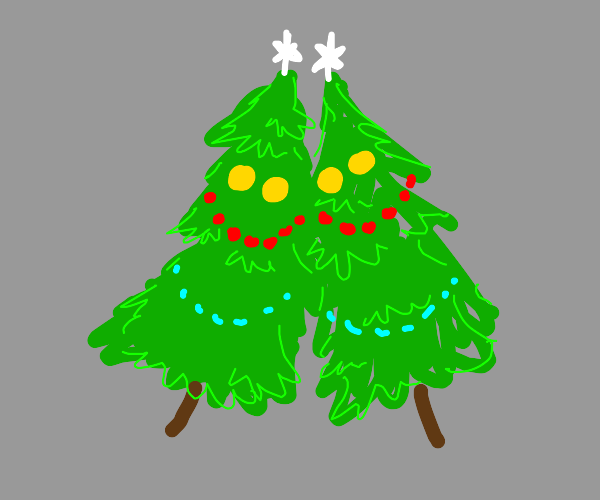 christmas trees are bffs :D