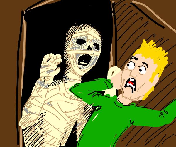 Scary mummy jumpscare