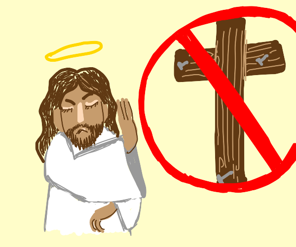 Jesus chooses not to die for the sins.