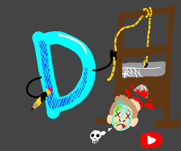 Drawception D beheads Jazza: Jazza is no more