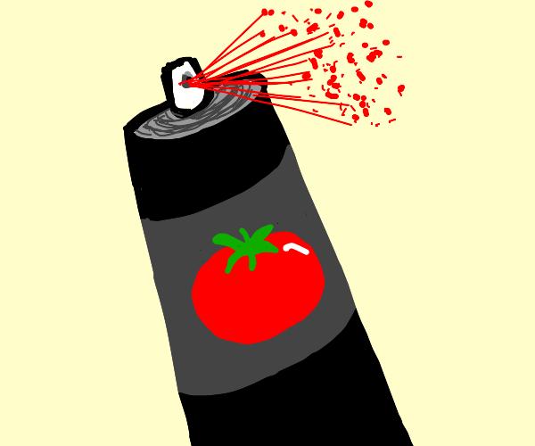 a tomato spray