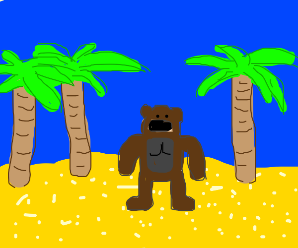 Gorilla on an Island