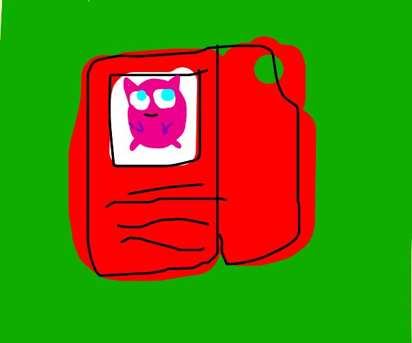 Jigglypuff registered in pokédex