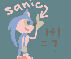 sanic does math