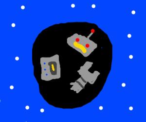 Robot mutilated a black hole