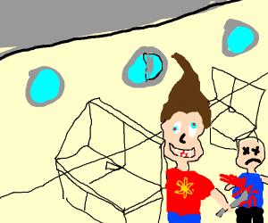 Crazy-eye Jimmy Neutron kills child on plane