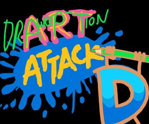 Drawception prepared for the art attack
