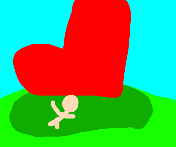 Crushed by red boot