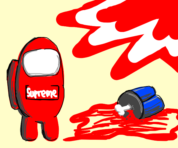 Red among us supreme (blood included!)