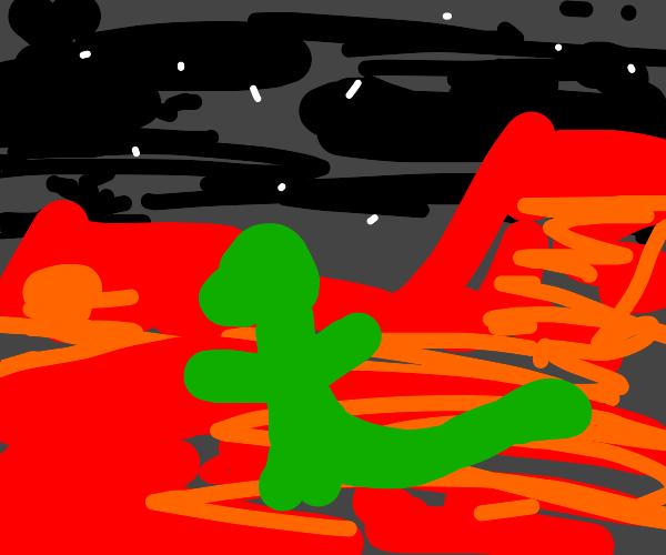 Dinosaur on mars