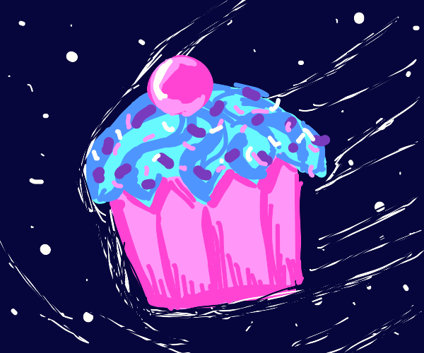 cupcake in space