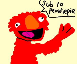 elmo saying sub to pewdiepie