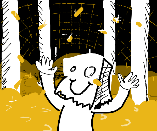 drawception default guy gets GOLD