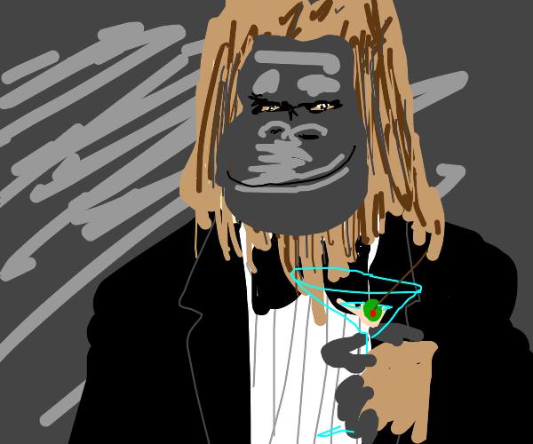 Yeti with a martini