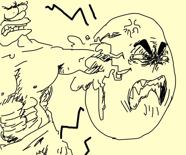 homer hulk punches an angry egg