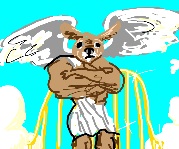 godly chihuahua angel guards the golden gates