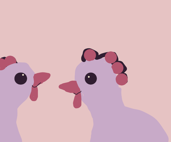 purple chickens
