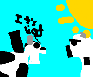 Cows arguing about what Light is (lol)