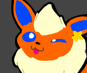 cute flareon winks at you!!