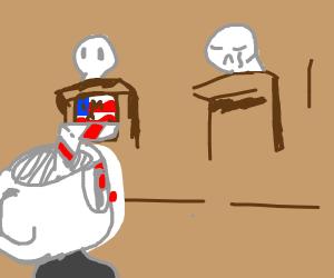 cuphead votes for patriotic wolf