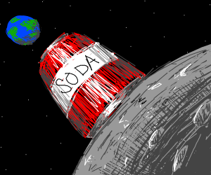can of soda on the moon
