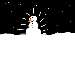 A very shiny snowman